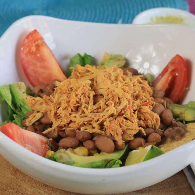 Avocado bean salad image